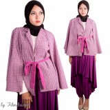 Cape Coat Jaket Motif - 1735