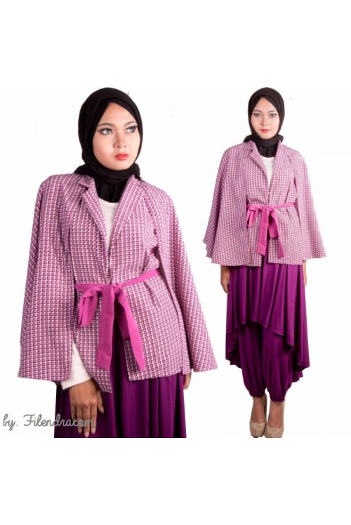 Cape Coat Jaket Motif 1735