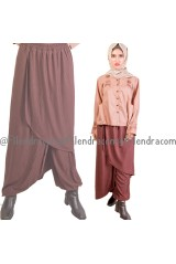 Harga Special  Celana Model Skirt Pant Unik Spandex Rayon I - 1798